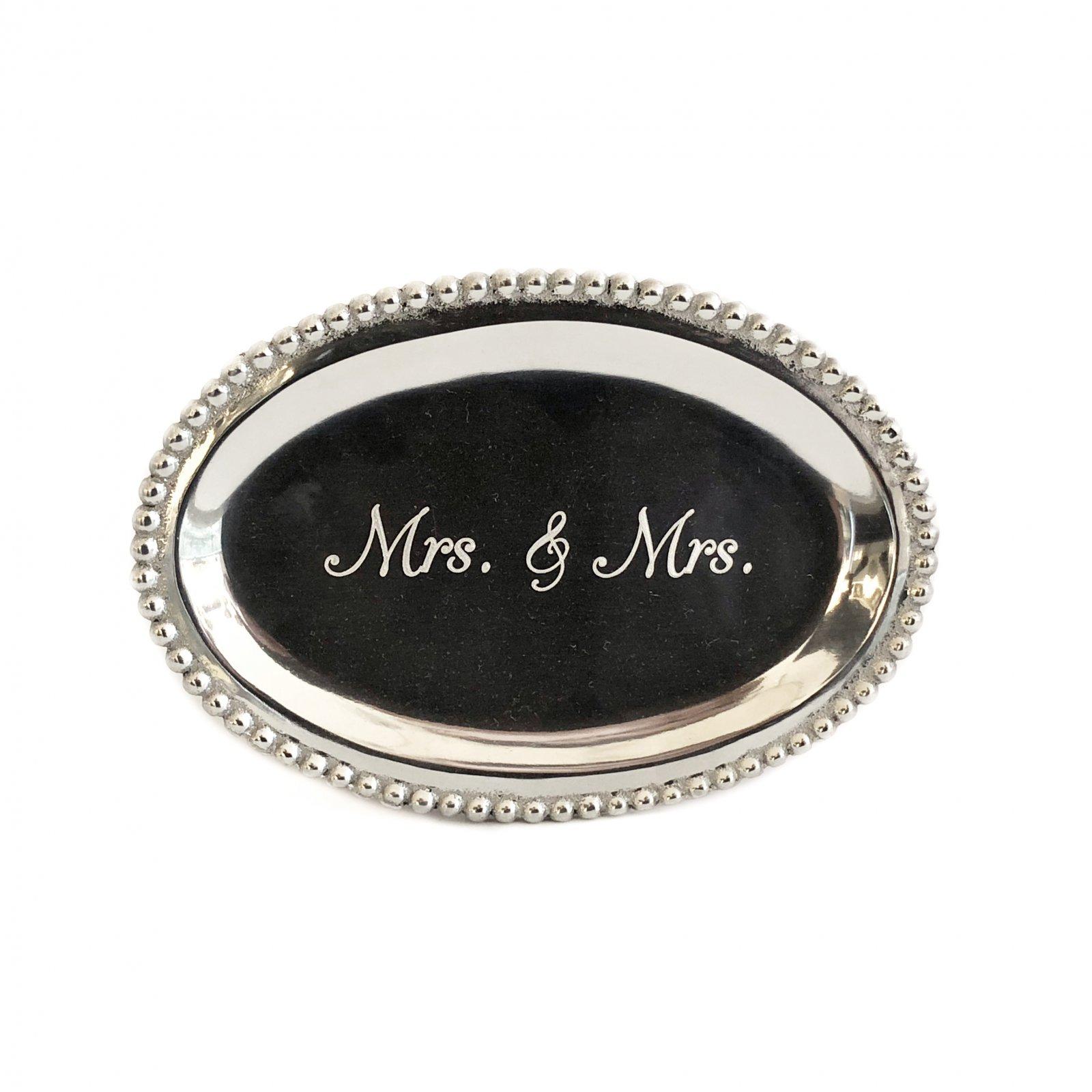 Mariposa Oval Tray - Mrs & Mrs