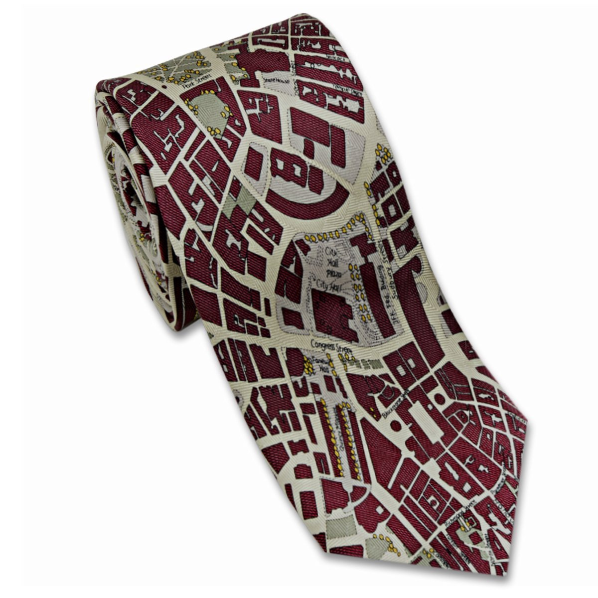Josh Bach Boston Map Tie