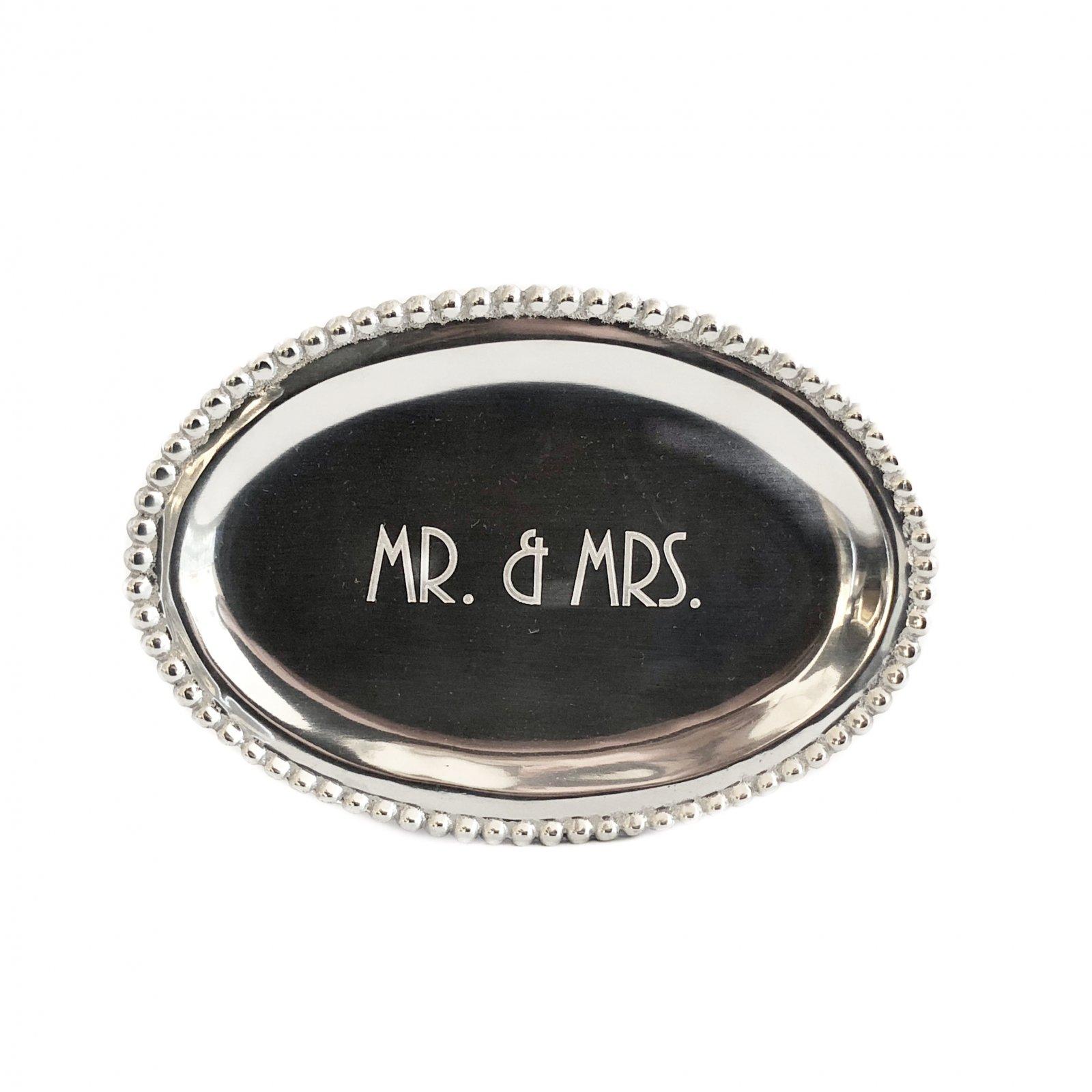 Mariposa Oval Tray - Mr & Mrs