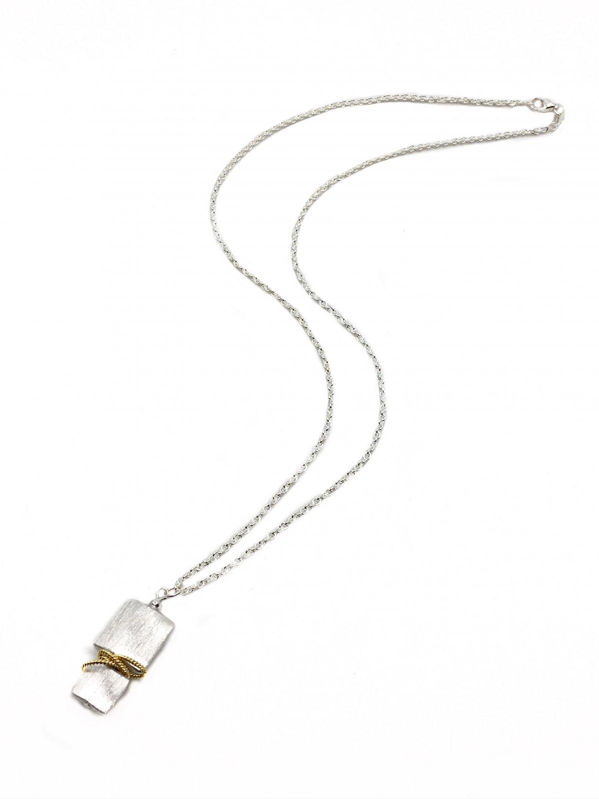 Naomi Square Twist Vermeil Necklace