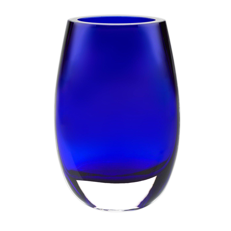 Badash Crescendo Vase - Cobalt Blue