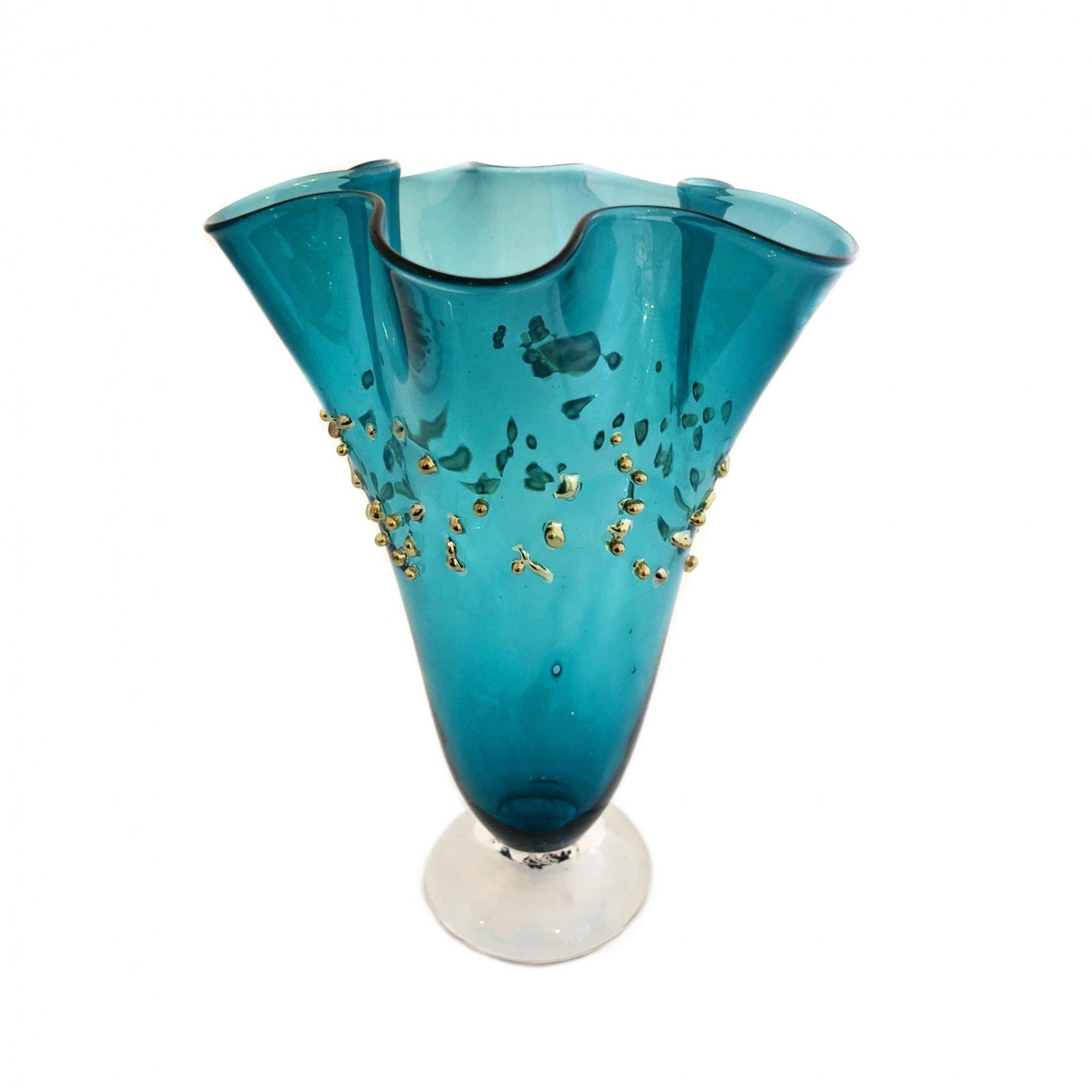 Glass Rocks Dew Drop Fluted Vase