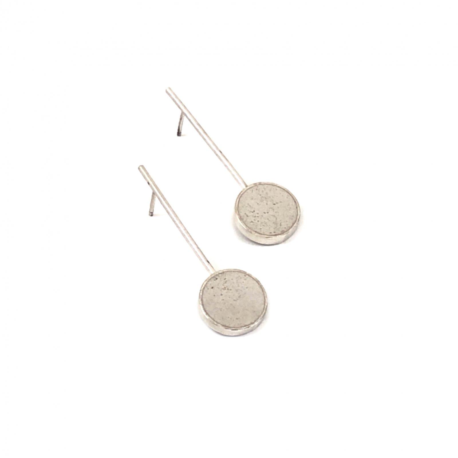 JLB Concrete Circle Drop Earrings