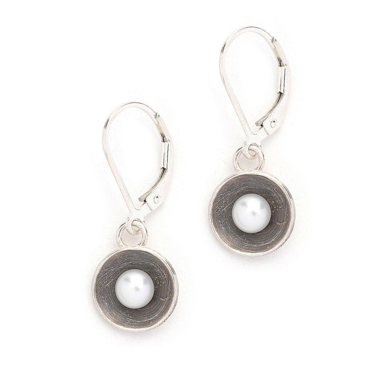 J&I STERLING AND PEARL EARRINGS