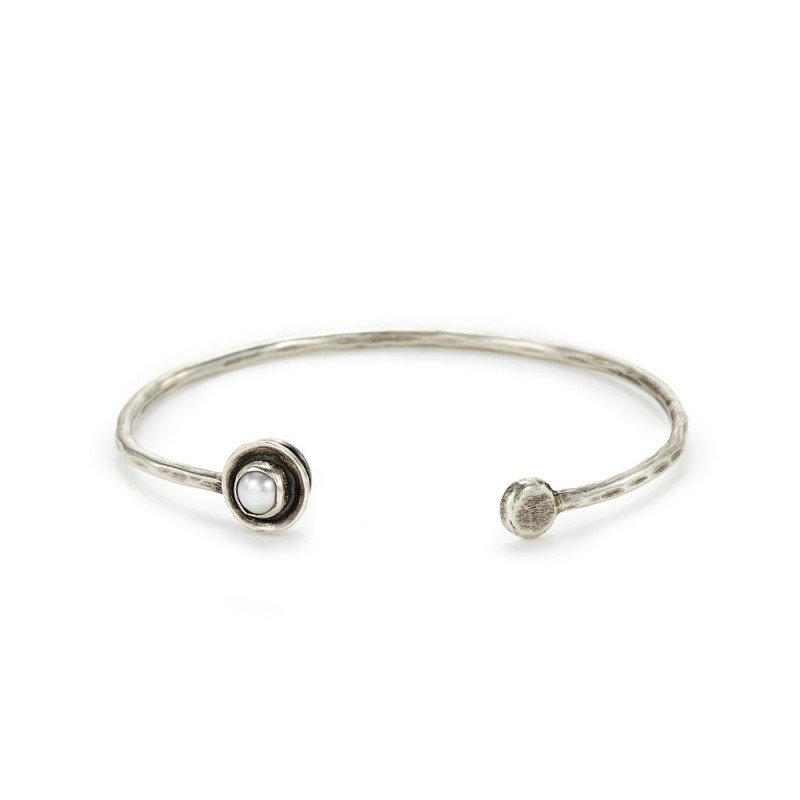 J&I STERLING AND PEARL BRACELET