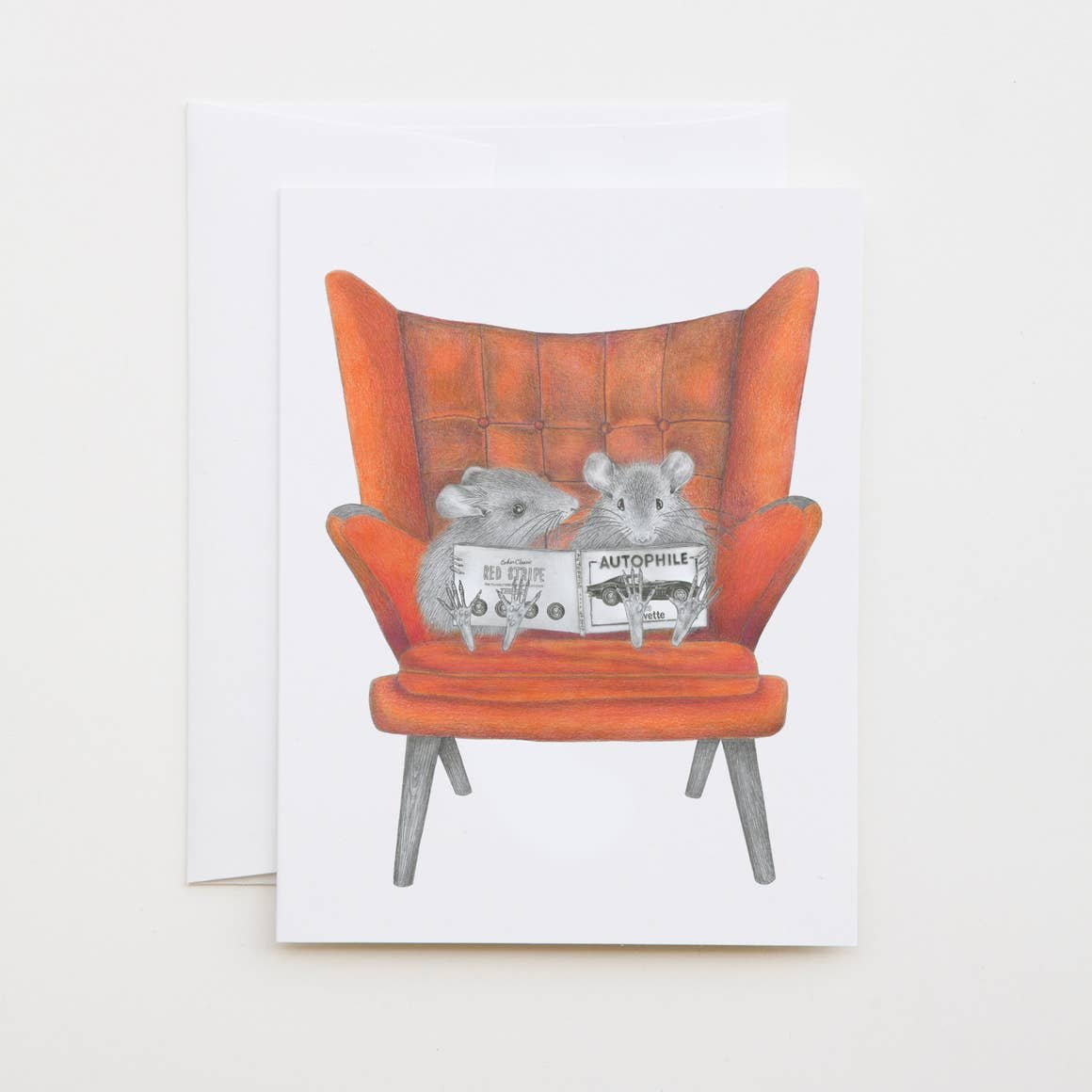 LECANOTROUGE FIELD MOUSE CARD