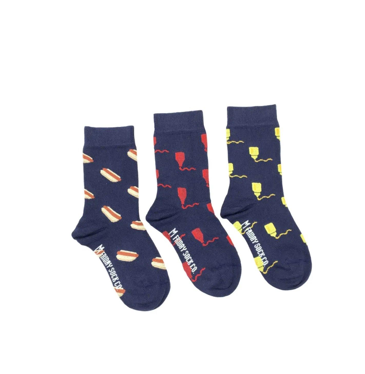 Friday Kid Hot Dog Socks