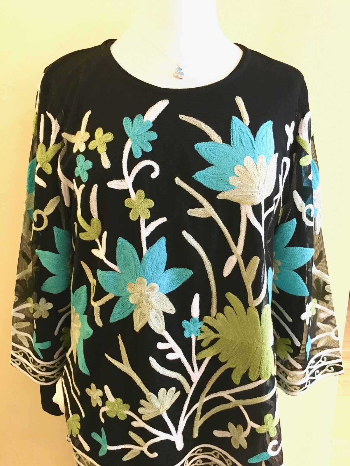 Parsley & Sage Embroidered Top