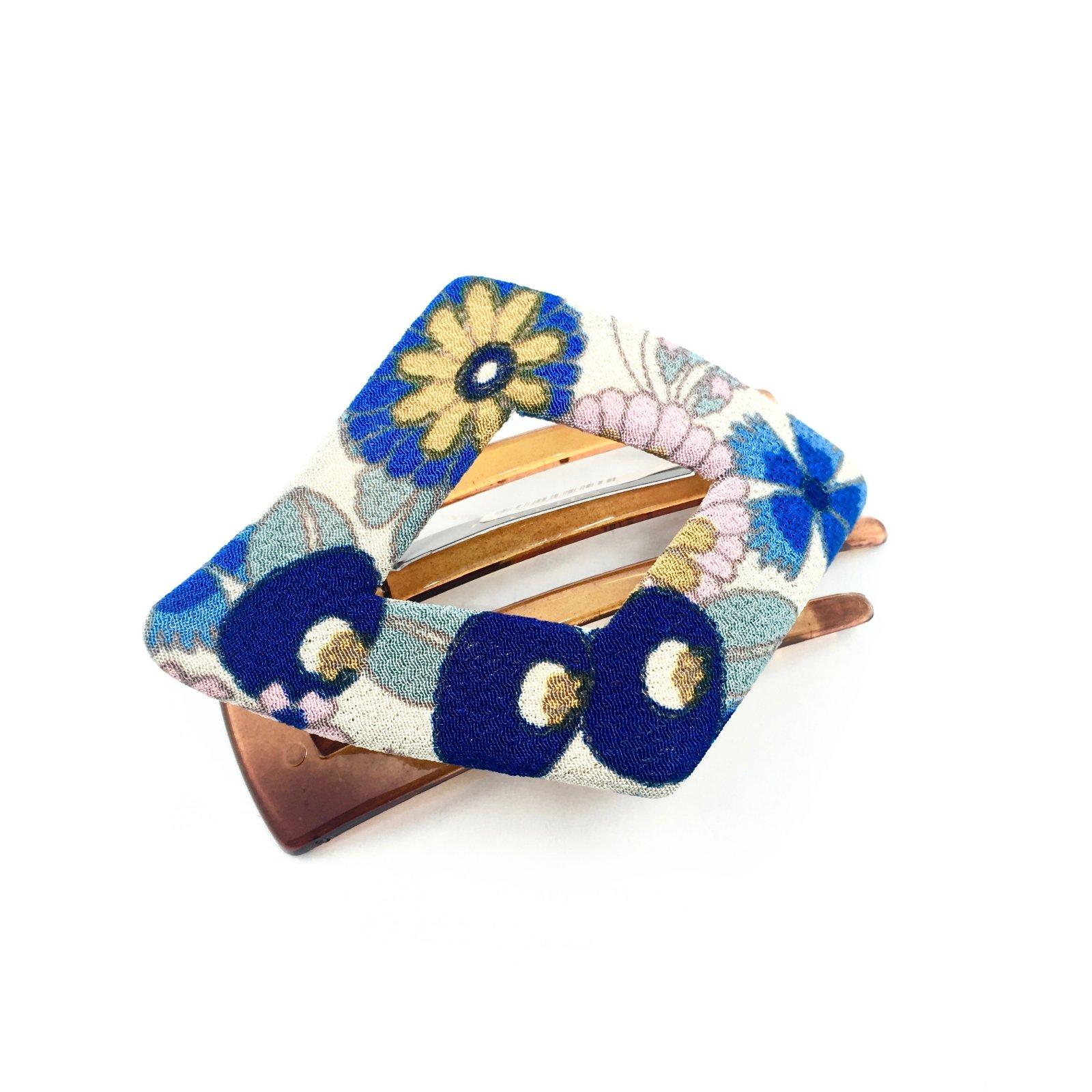 Kimono Clip Diamond- Floral Blue