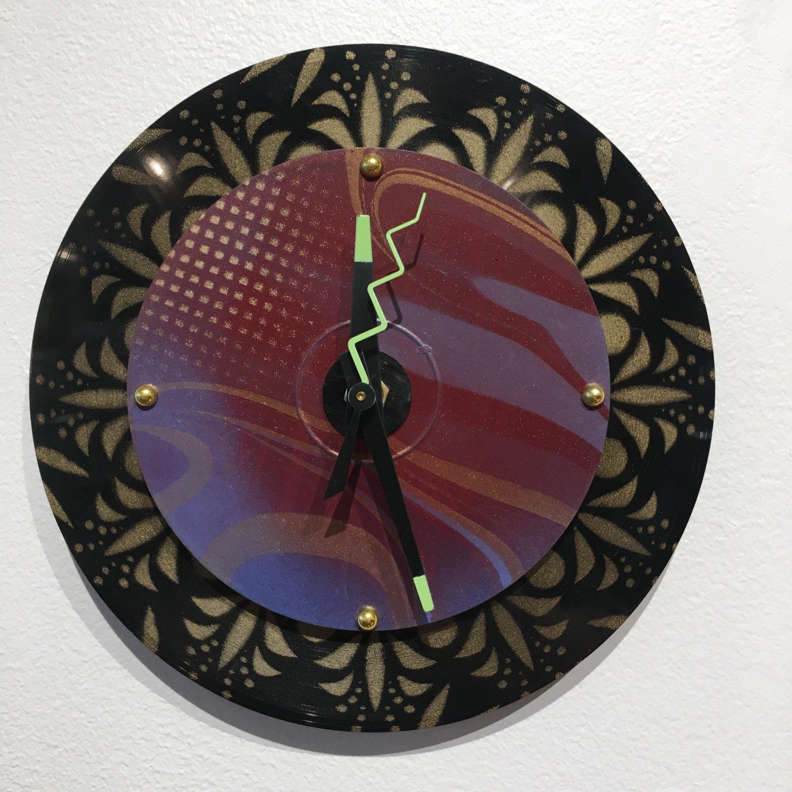 Dickinson Purple Baby Wall Clock
