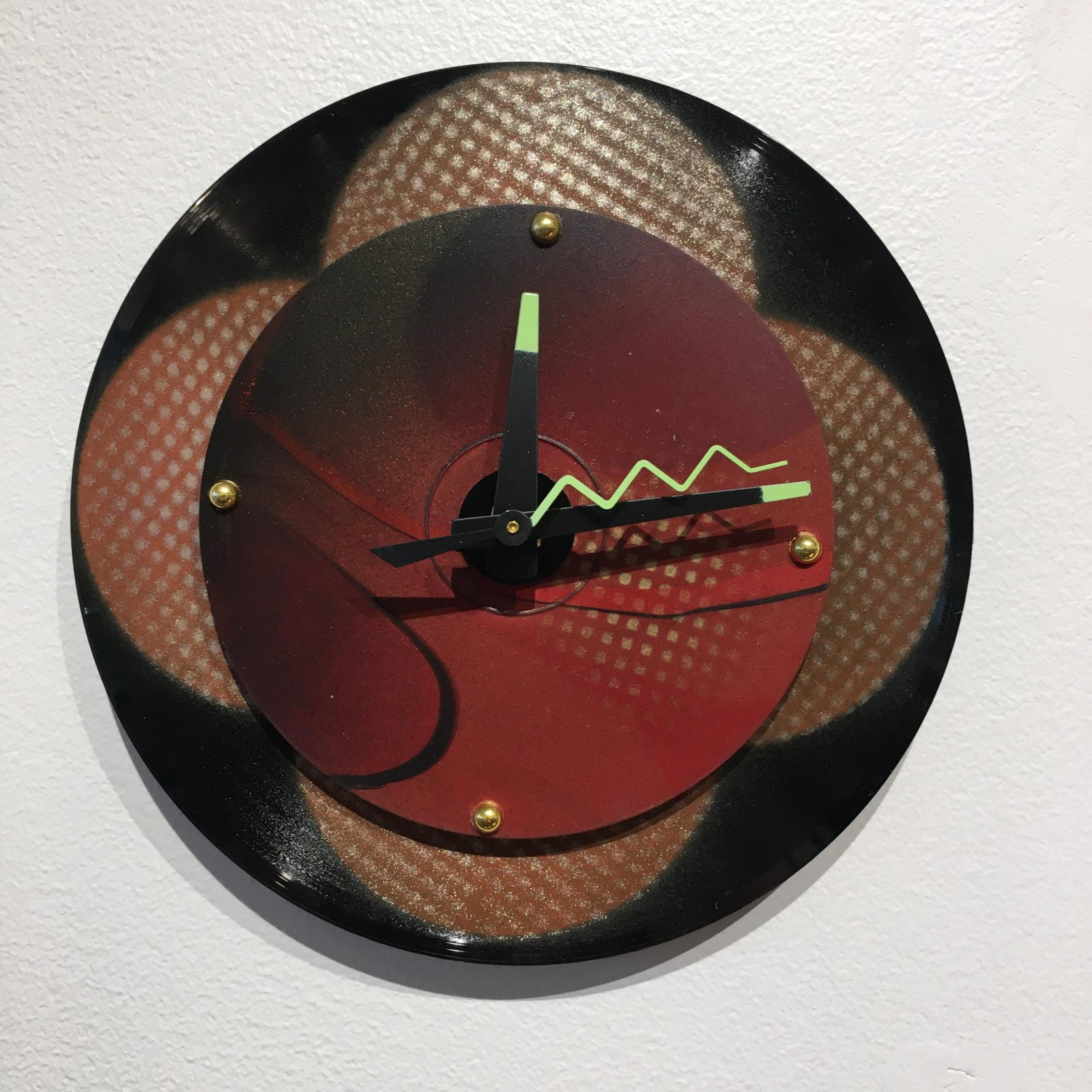 Dickinson Red Baby Wall Clock