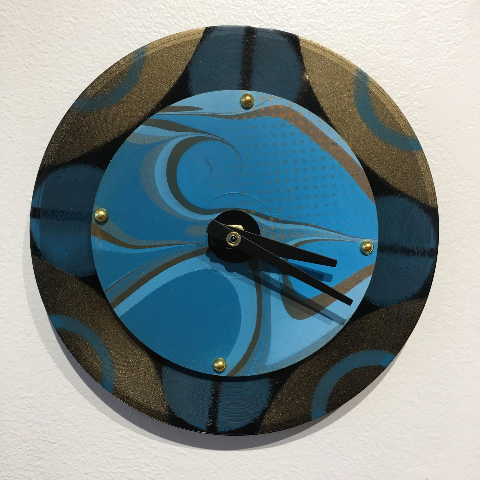 Dickinson Blue Baby Wall Clock