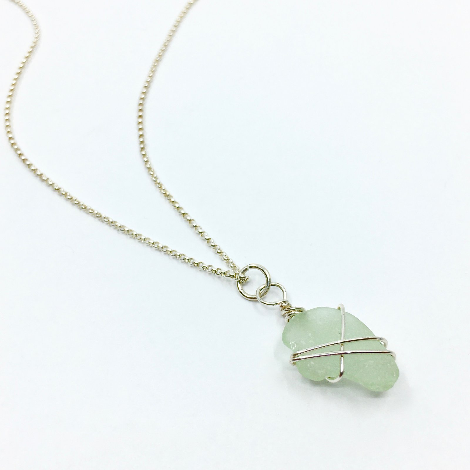 Lucky Stone Sea Glass Necklace
