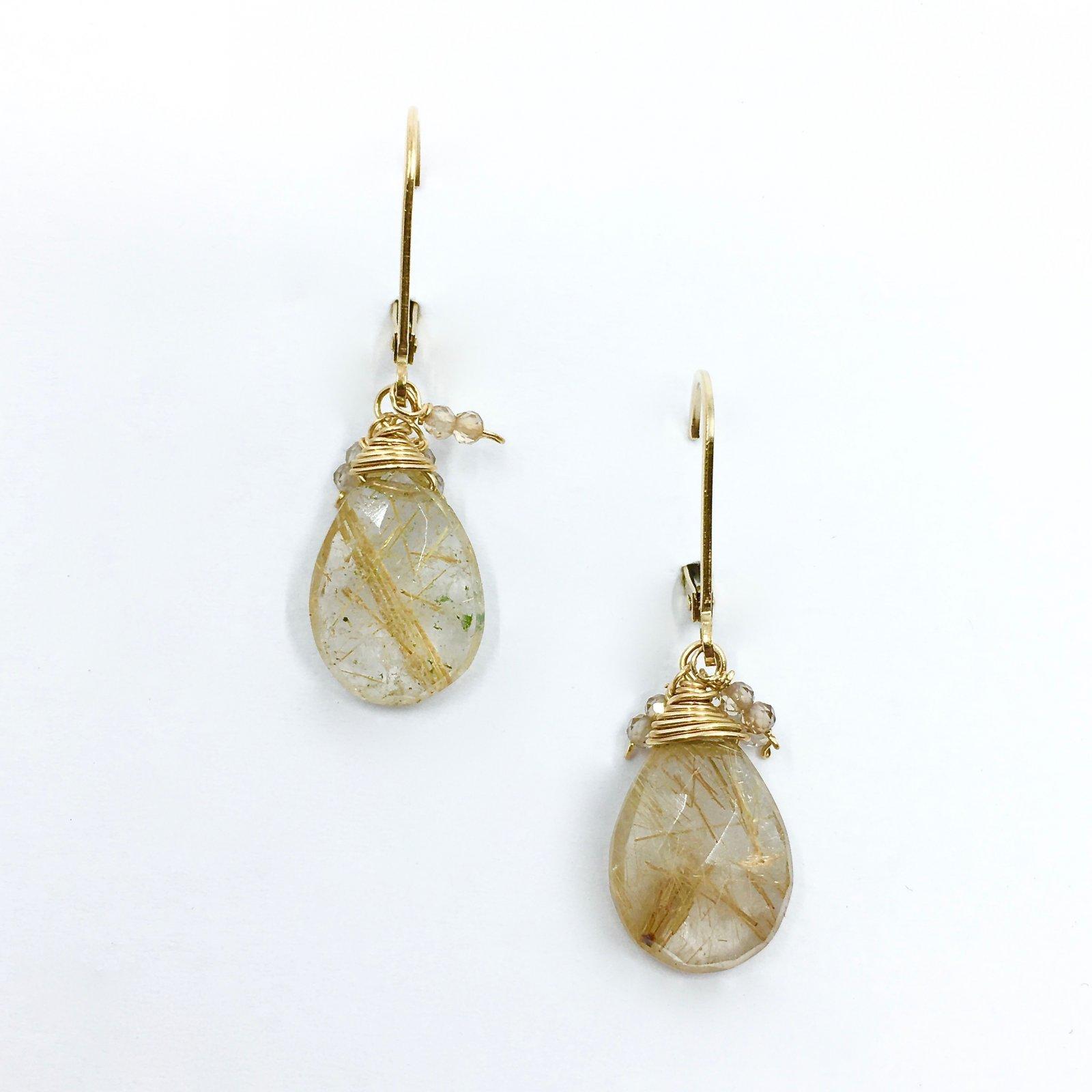 Kristin Ford Rutilated Quartz Earrings