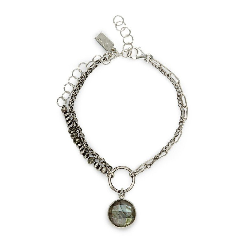 J&I STERLING AND LAB BRACELET