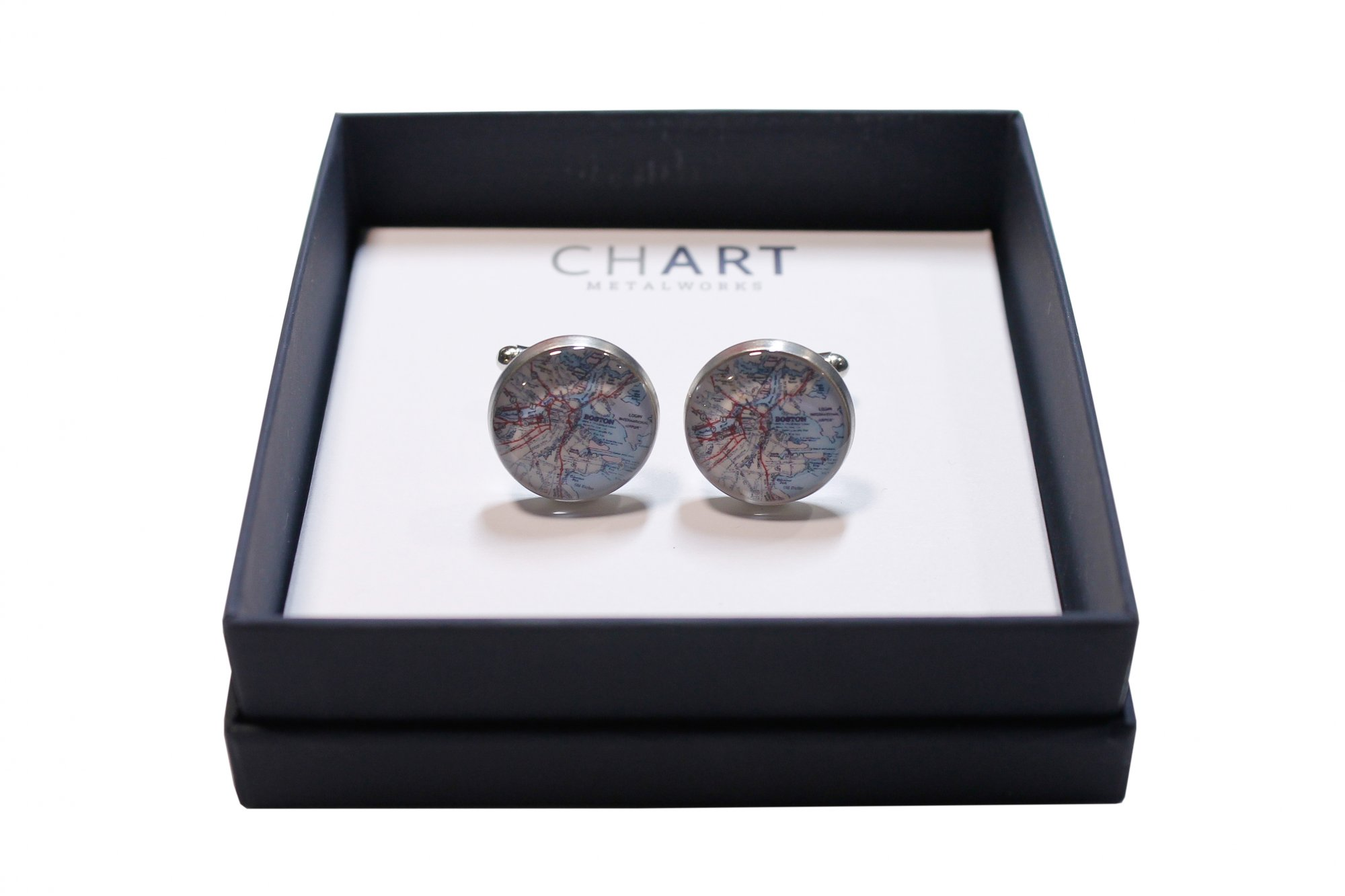 CHART BOSTON CUFFLINKS