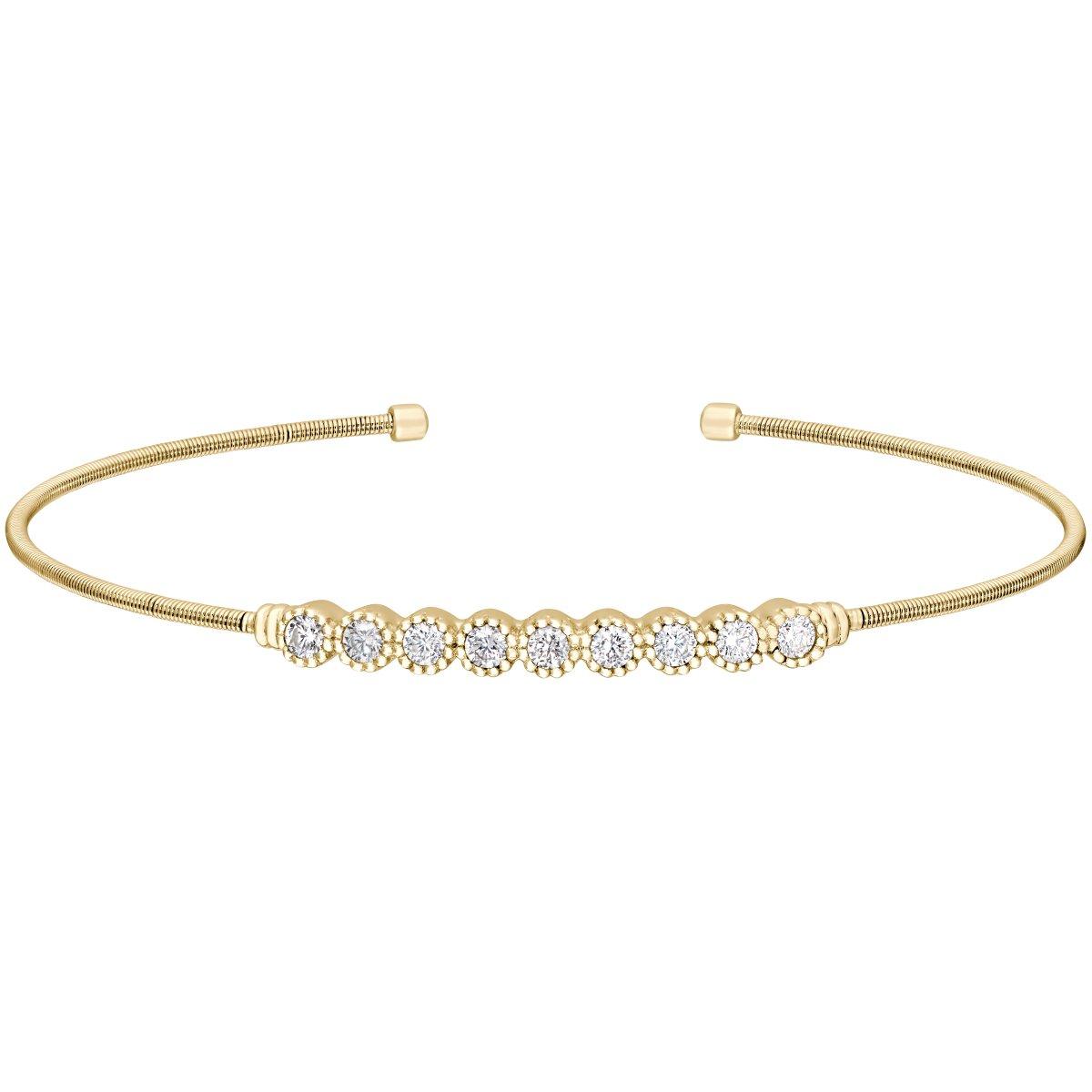 Bella Cavo Gold Bezel Bracelet
