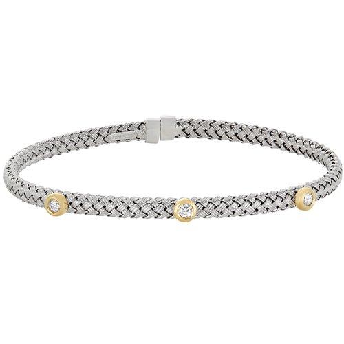 Kelly Waters Silver Basketweave Bracelet