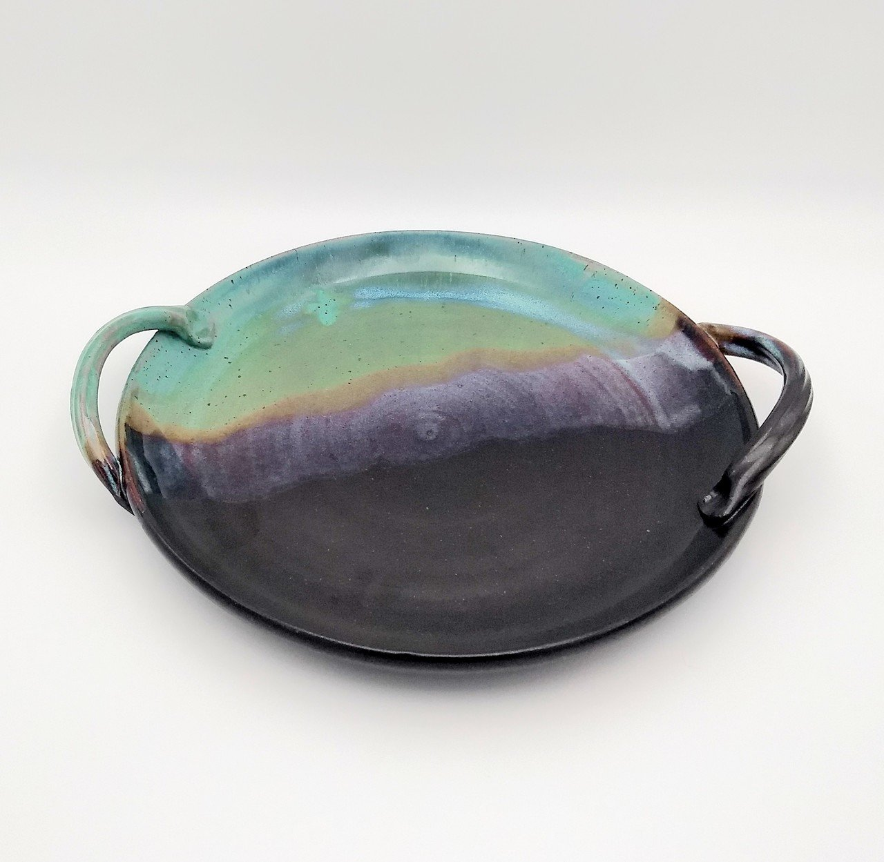 Clay Path Serving Platter - Green