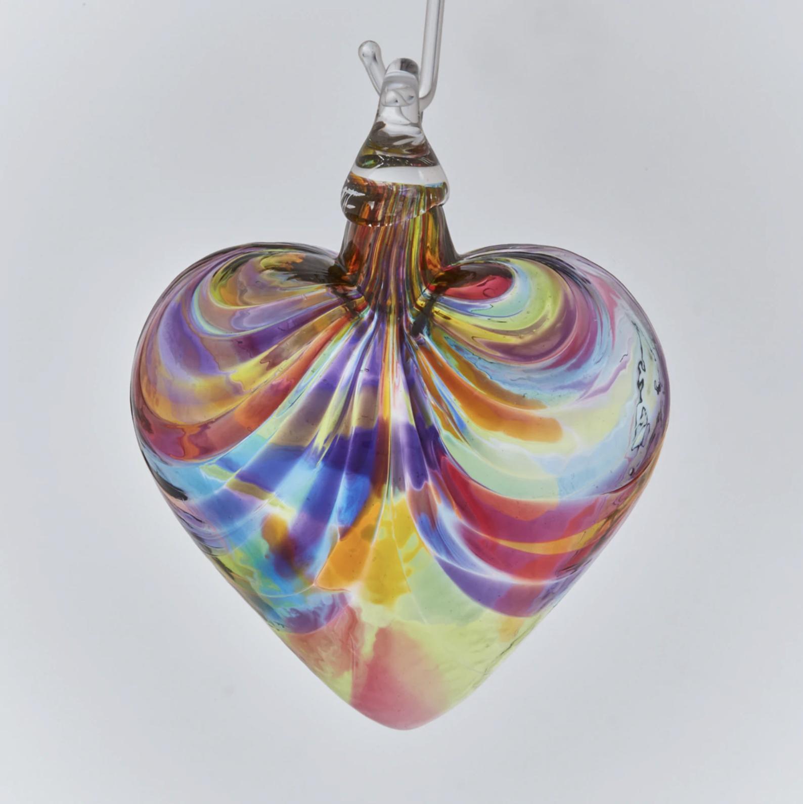 GLASS EYE HEART ORNAMENT