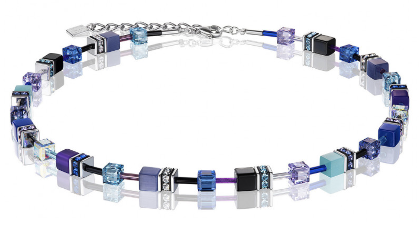 Coeur de Lion Necklace - Purple/Turquoise