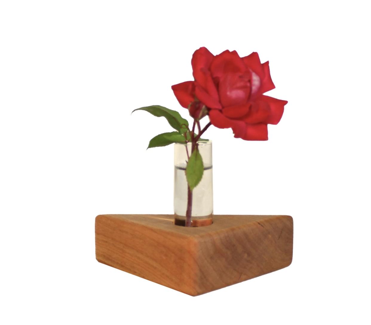 Sabbath Day Wood Triangle Vase