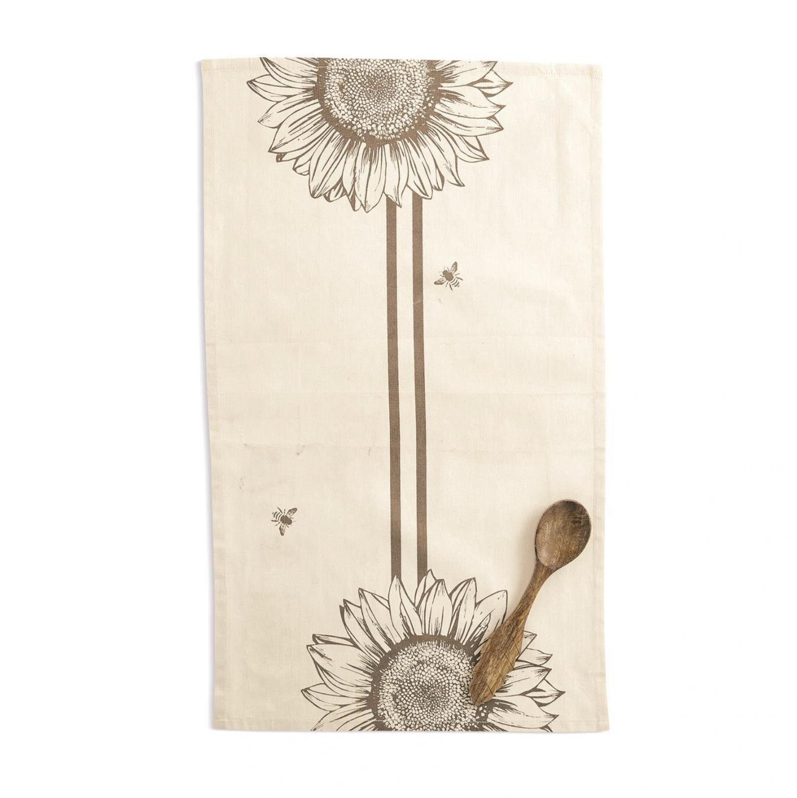 TC Sunflower Dish Towel & Spoon Set