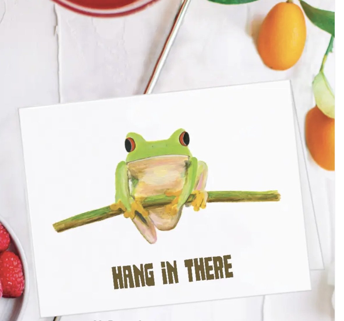 Printed Canvas Tree Frog