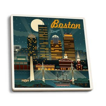 BOSTON RETRO SKYLINE