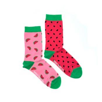 FRIDAY WATERMELON CREW SOCKS