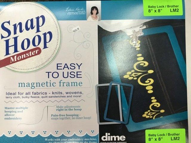 LM2 DIME Monster Magnetic Snap Hoop 8 x 8