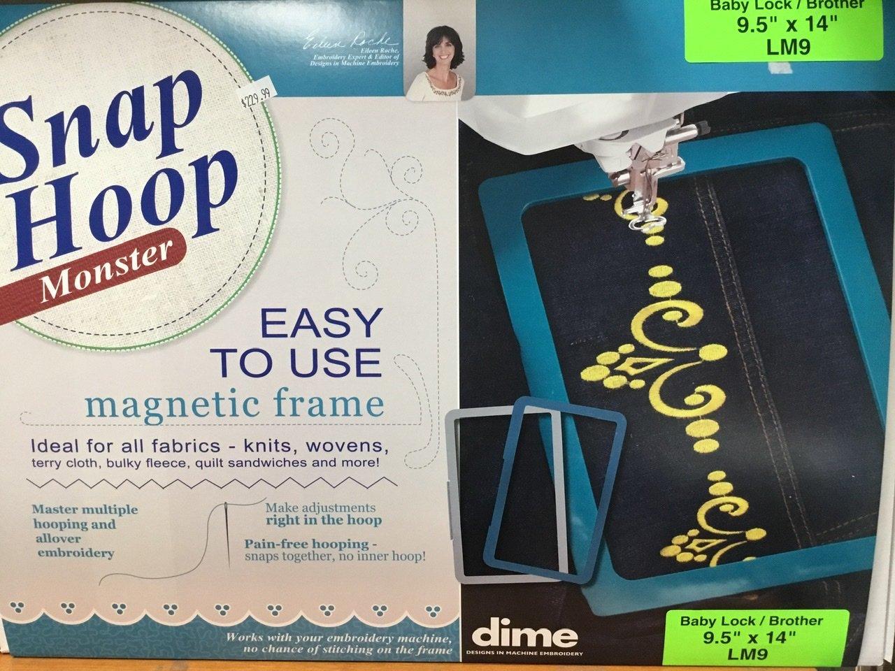 LM9 DIME Monster Magnetic Snap Hoop 9.5 x 14