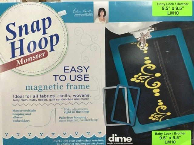 LM10 DIME Monster Magnetic Snap Hoop 9.5 x 9.5
