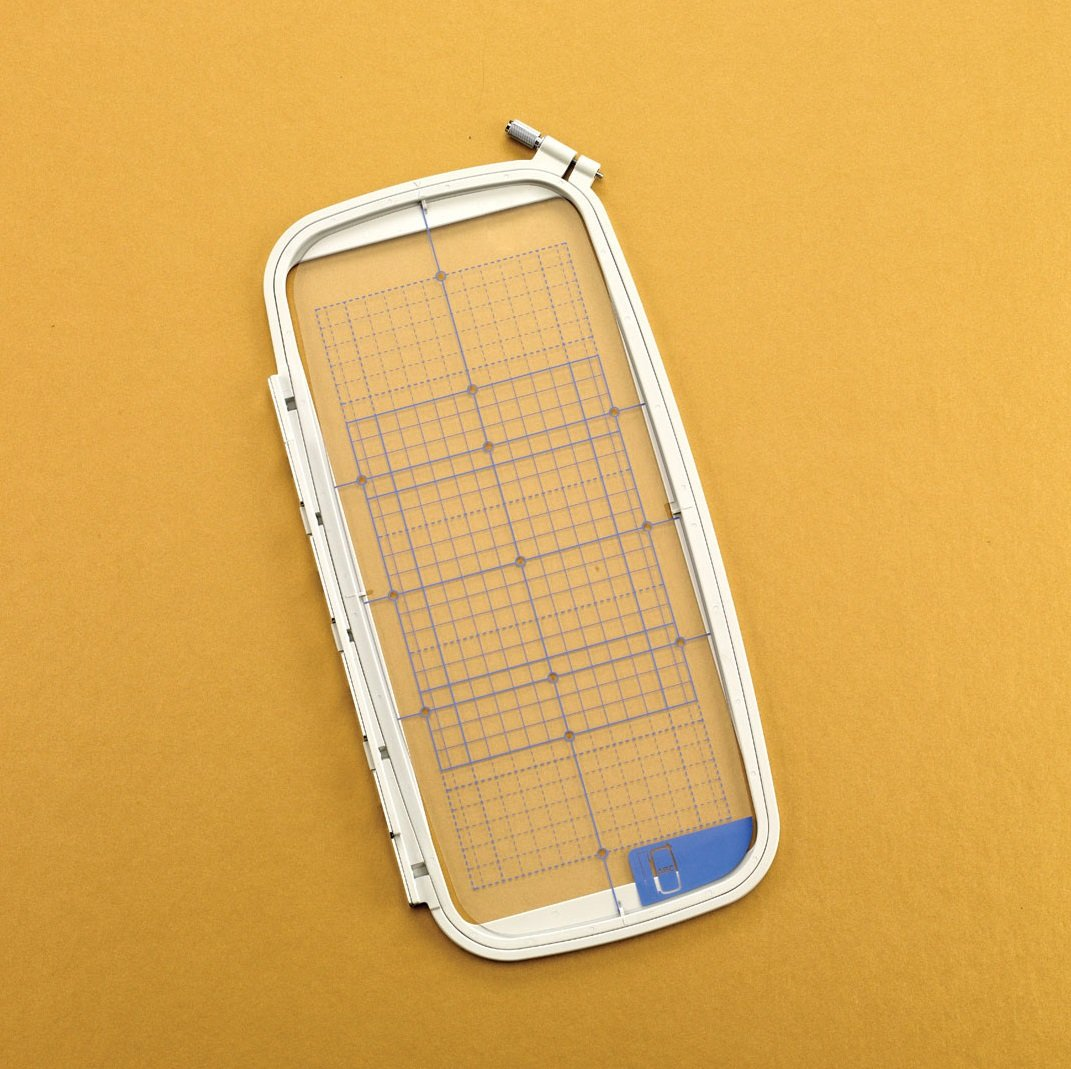 5 x 12 Multi-Position Clip-On Embroidery Hoop & Grid
