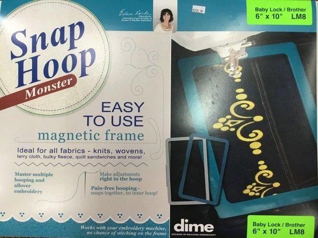 LM8 DIME Monster Magnetic Snap Hoop 6 x 10