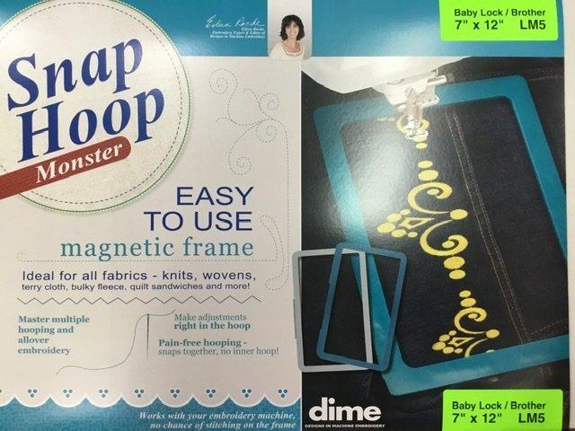 LM5 DIME Monster Magnetic Snap Hoop 7 x 12