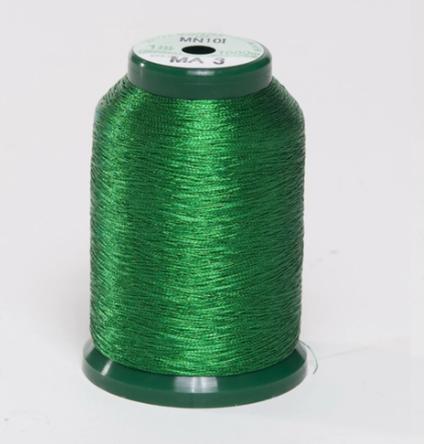 KingStar Metallic Embroidery Thread - MA 3 Green (A470003)