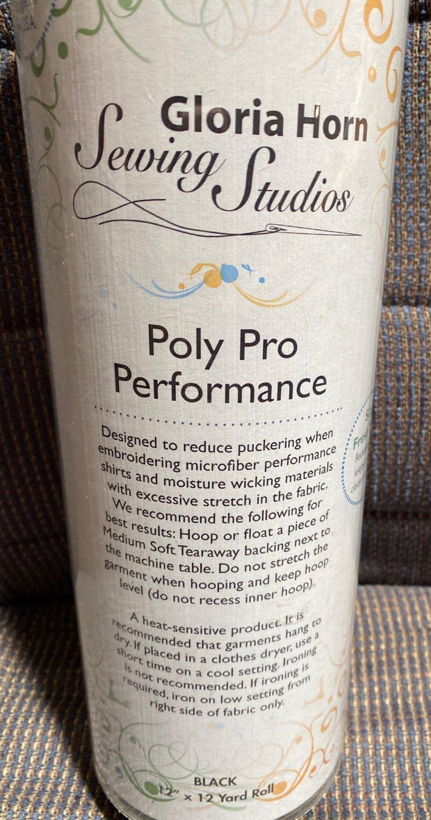 Poly Pro Performance Black 12 x 12 yd roll  H2551212K
