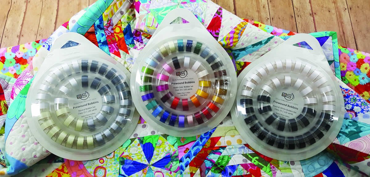 Multi-Color Bobbin Set (QS-B40MC) by Quilter's Select