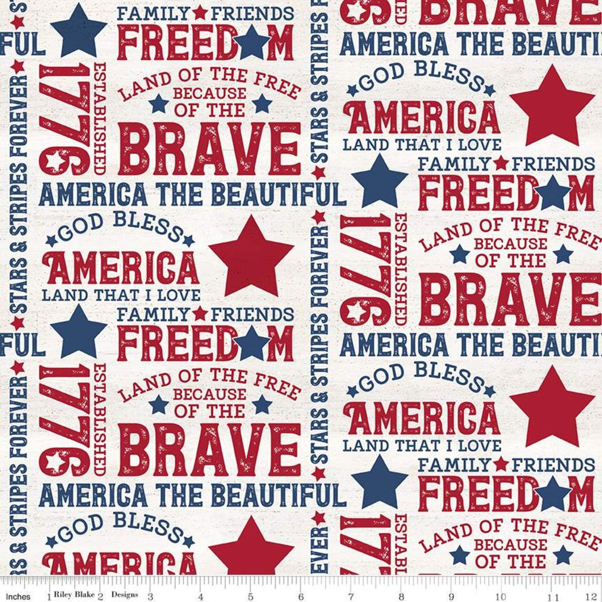 Let Freedom Soar Text Off White by Tara Reed  C10520-OFFWHITE