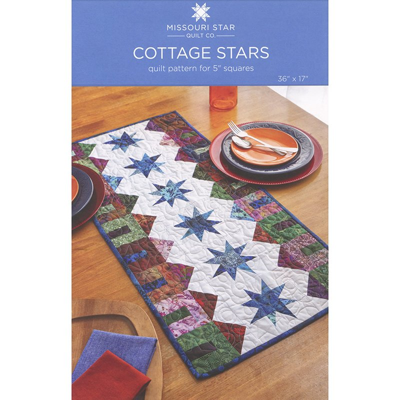 Cottage Star Table Runner Pattern from the Missouri Star Quilt Co.