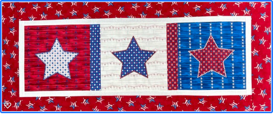 IQ Designer Directions - Altair, Meridian & Destiny - Star Spangled Runner - Learn to bring decorative stitches into embroidery and create your own applique from shapes