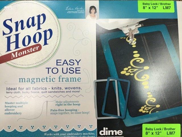 LM7 DIME Monster Magnetic Snap Hoop  8 x 12