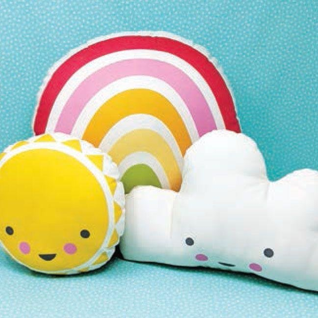Sunshine Rainbow Cloud Pillows