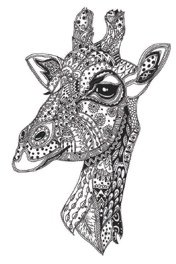 IQ Designer Directions - Giraffe for Babylock Altair & Meridian - Adding decorative stitches & fill to a built-in embroidery design