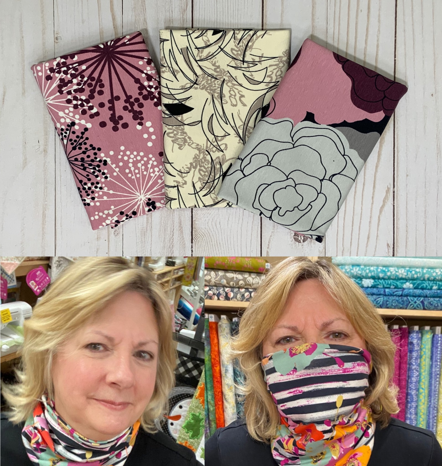 Dusty Rose NEW!  - Gloria Gaiter Face Covering Kit (Makes 3)