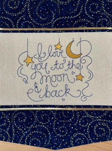 IQ Designer Directions - Love You to the Moon - Solaris - Turn Hand Embroidery Design into Machine Embroidery