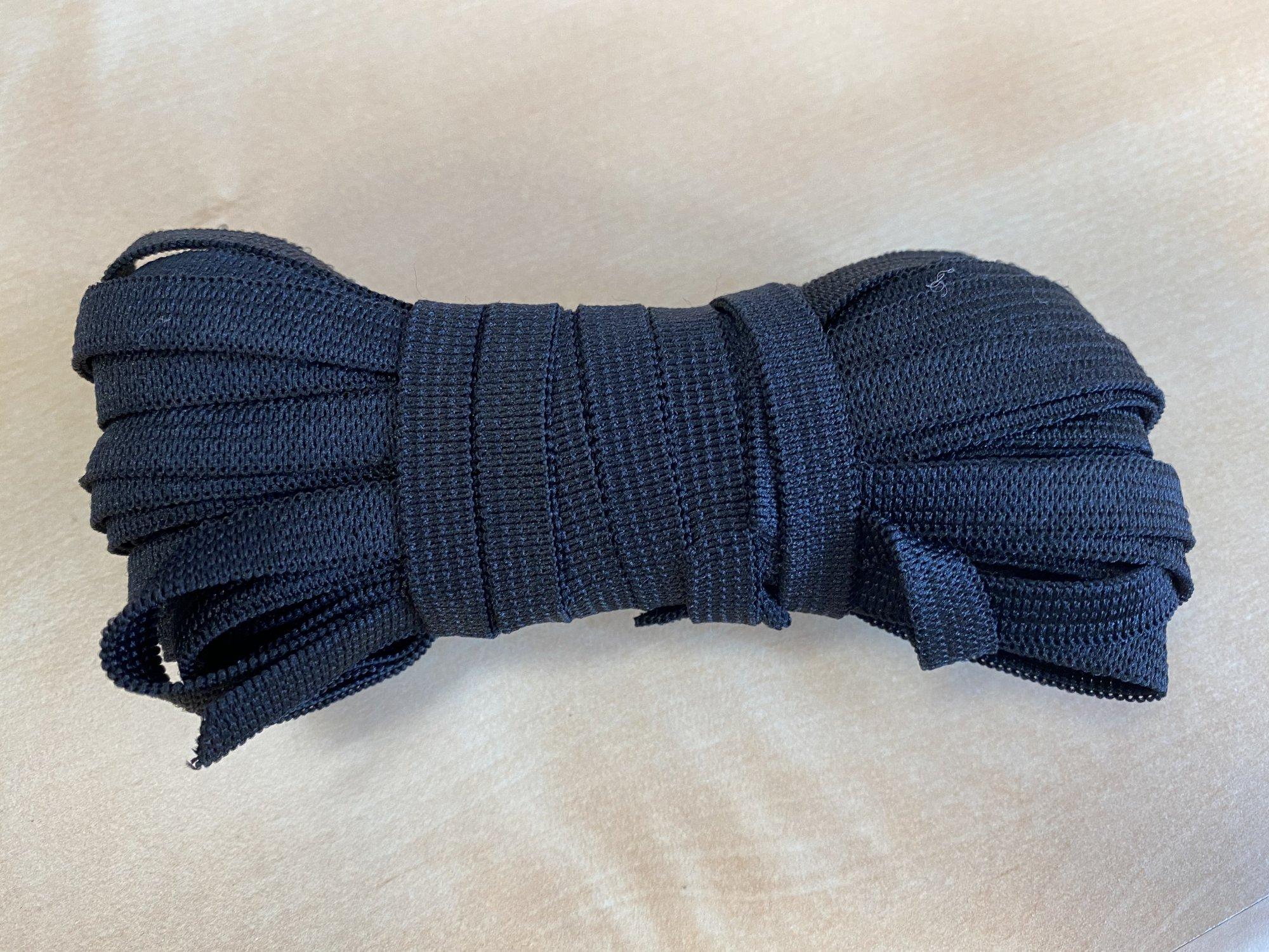 1/2 wide knit elastic - black 10 yard  bundle