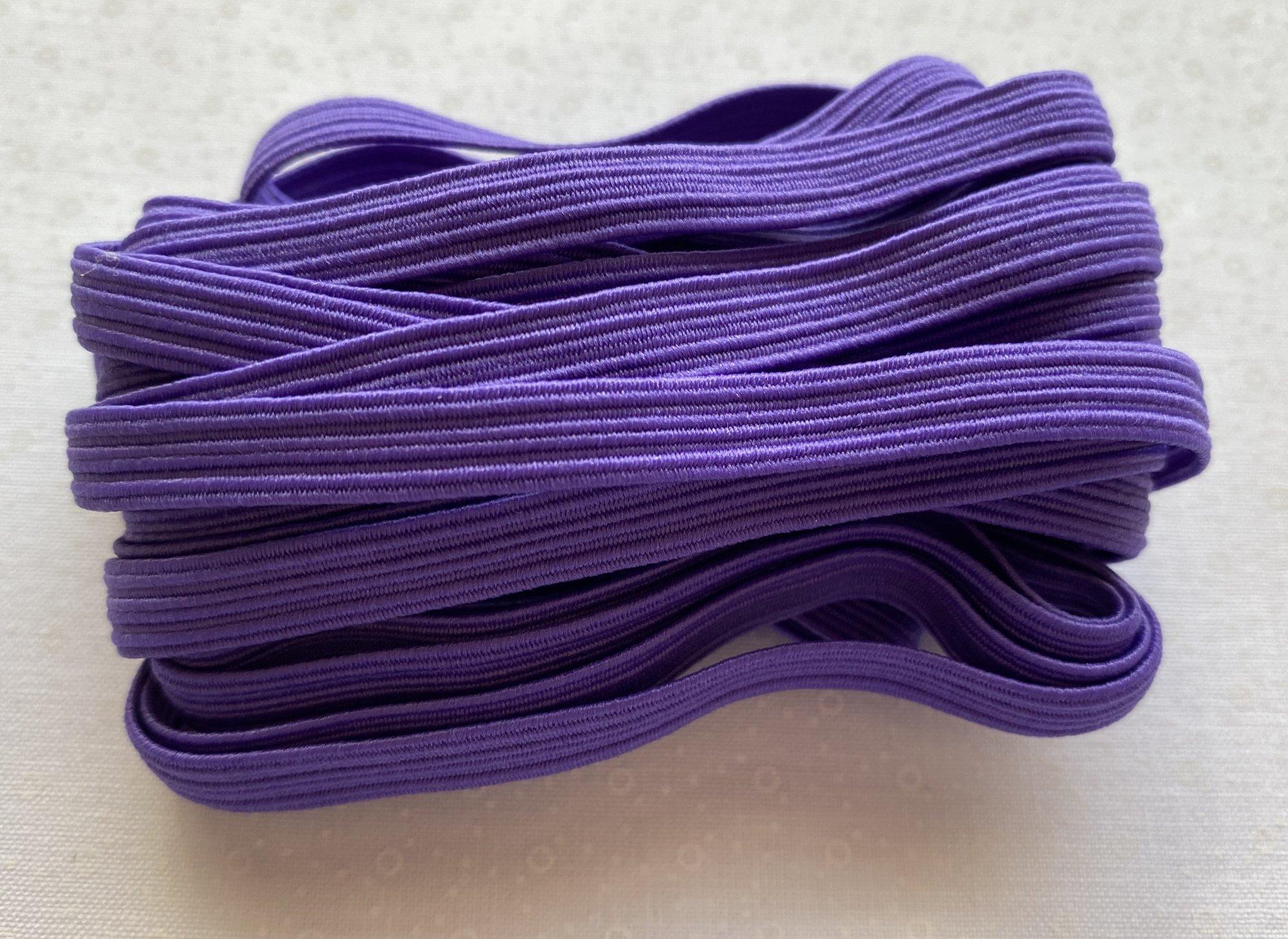 Gypsy Quilter Flat Purple Elastic 1/4 x 5 yards