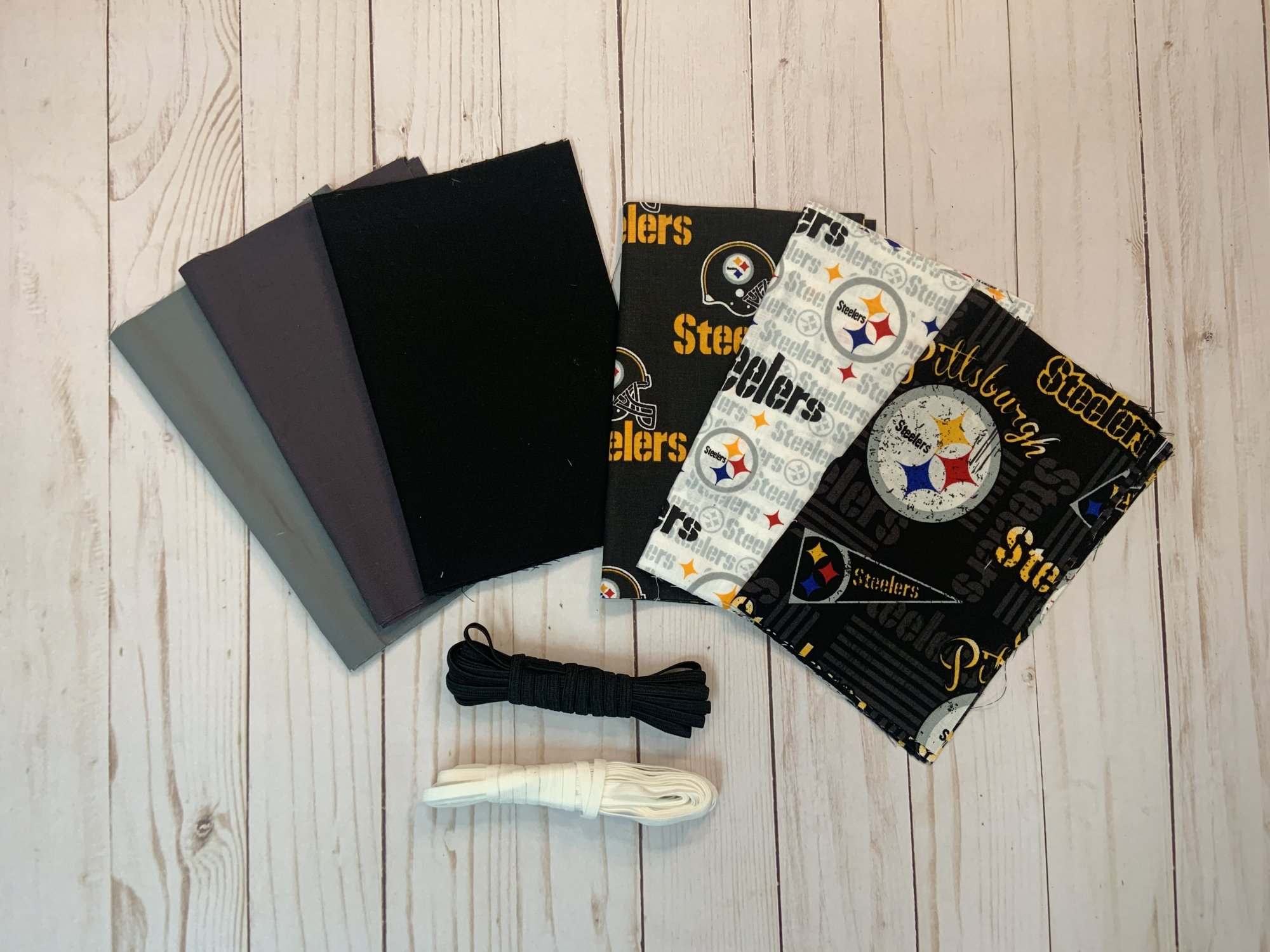 The ULTIMATE Pittsburgh STEELERS Face Mask Kit - Makes 12 Masks